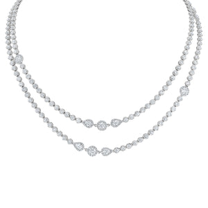 Three Station Diamond Necklace - R&R Jewelers