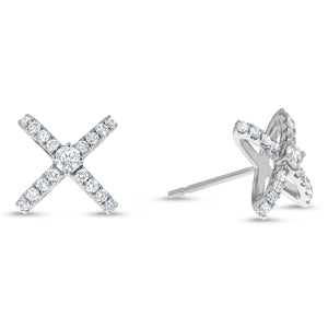 Diamond X Stud Earrings - R&R Jewelers