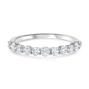 Shared Prong Diamond Wedding Band, 0.77 ct - R&R Jewelers