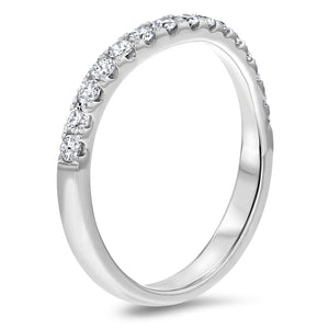 Half Way Diamond Wedding Band, 0.38 ct - R&R Jewelers