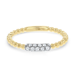 Beaded Diamond Ring - R&R Jewelers