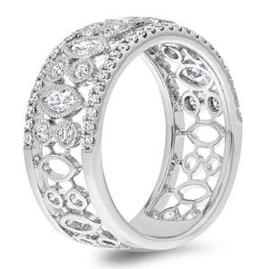 Marquise and Round Diamond Vintage Ring - R&R Jewelers
