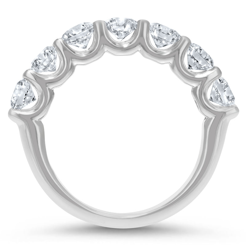 Scalloped Pavé Diamond Wedding Band - R&R Jewelers