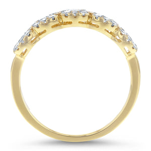 Half Way Diamond Cluster Ring, 0.62 ct - R&R Jewelers