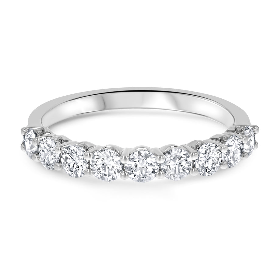 Scalloped Diamond Halfway Band, 0.89 Carats - R&R Jewelers