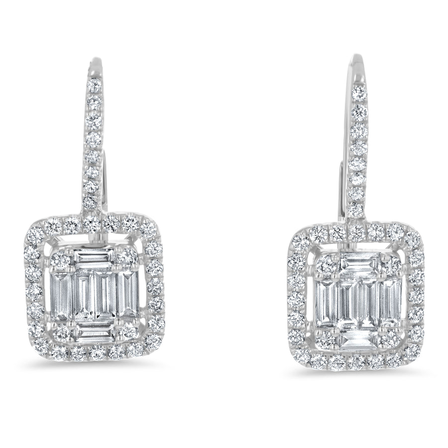 Diamond Illusion Drop Earrings - R&R Jewelers