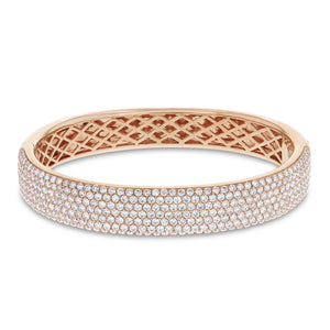 Seven Row Diamond Bangle, 5.39 Carats