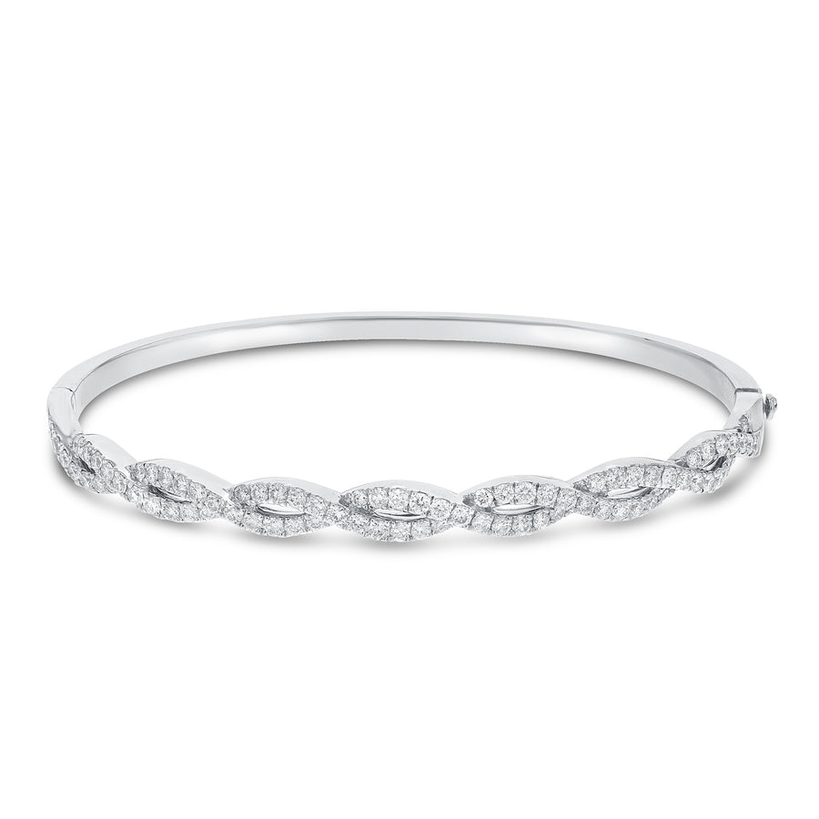 Diamond Infinity Twist Bangle, 1.40 ct - R&R Jewelers