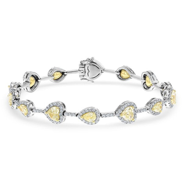18K White and Yellow Gold Diamond Bracelet, 6.99 ct - R&R Jewelers