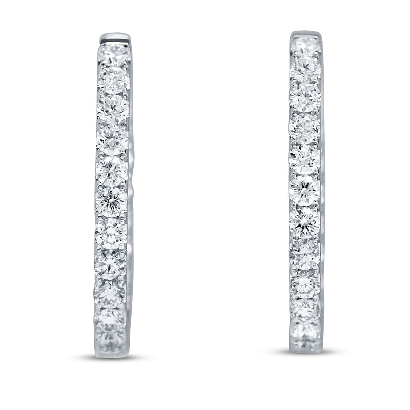 Inside Out Diamond Hoop Earrings, 1.93 ct (E2020)