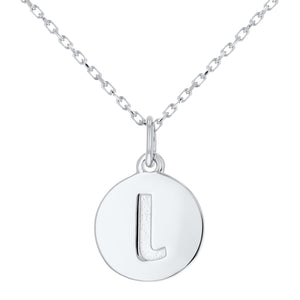 Lowercase Initial Disc Pendant in 14K Gold - No Diamonds - R&R Jewelers