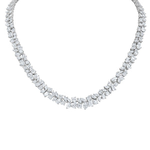 Fancy Shape Diamond Eternity Necklace