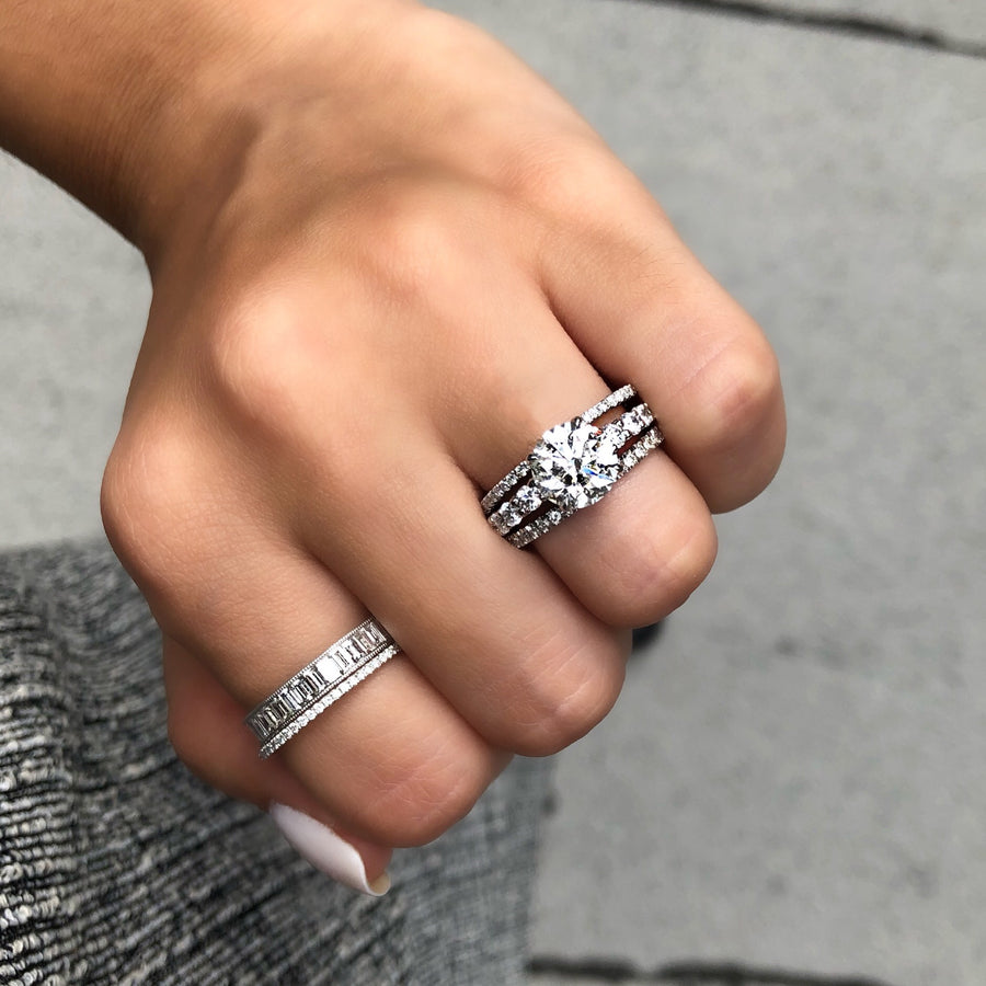 Channel Set Diamond Baguette Band - R&R Jewelers