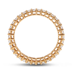 Diamond Gold Petite Eternity Band, 0.85 Carats - R&R Jewelers