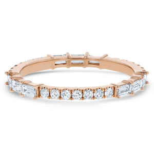 Round and Baguette Diamond Eternity Band - R&R Jewelers