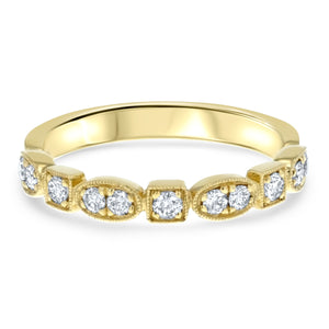 Art Deco Diamond Band - R&R Jewelers