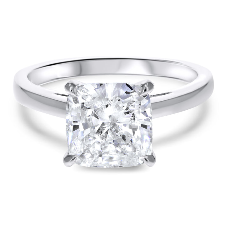 Cushion Simple Solitaire Cathedral Engagement Ring - R&R Jewelers
