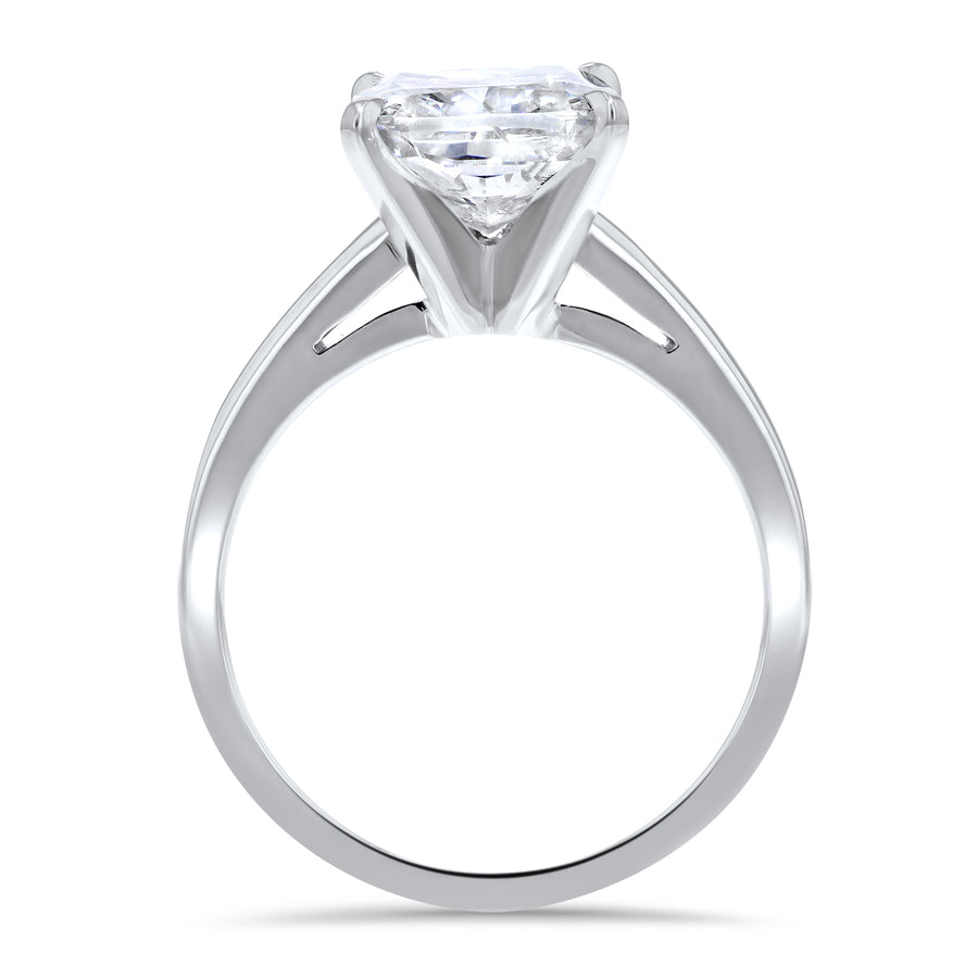 Simple Solitaire Cathedral Engagement Ring