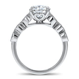 Vintage Round Diamond with Open Heart Gallery Engagement Ring - R&R Jewelers