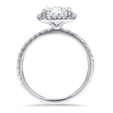 Round Brilliant Cushion Cut Halo Engagement Ring - R&R Jewelers
