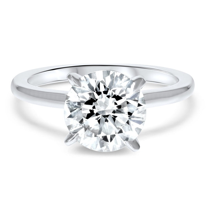 Four-Prong Simple Solitaire Engagement Ring
