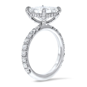Princess Pavé Diamond Basket Engagement Ring - R&R Jewelers