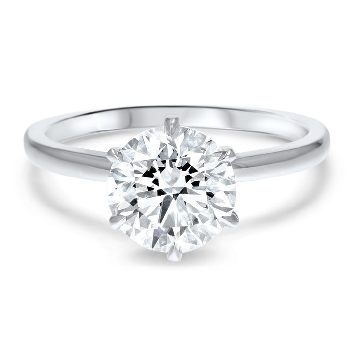 Six-Prong Simple Solitaire Engagement Ring