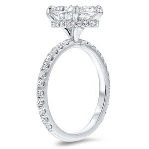 Pear Cut Hidden Halo Engagement Ring - R&R Jewelers