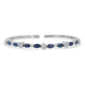 Diamond and Sapphire Cuff Bracelet - R&R Jewelers