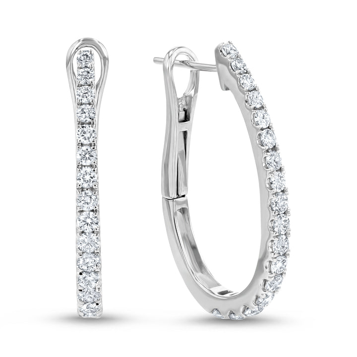 Diamond Hoop Earrings - R&R Jewelers
