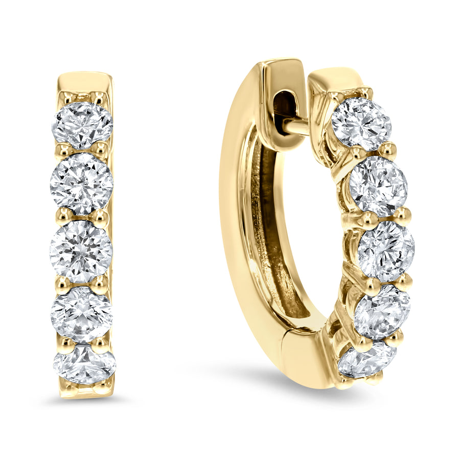 Diamond Huggie Earrings, 0.81 ct - R&R Jewelers