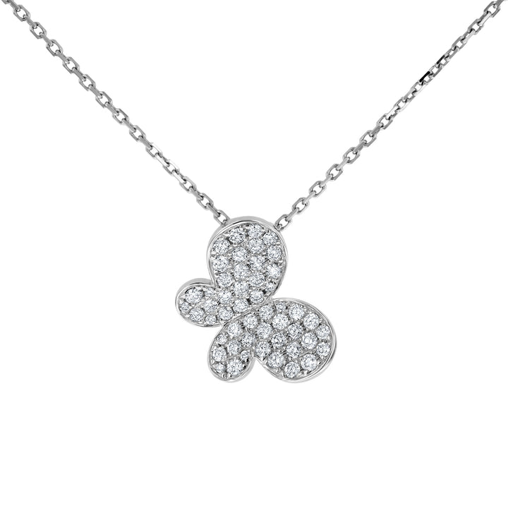 Pave Diamond Butterfly Pendant - R&R Jewelers