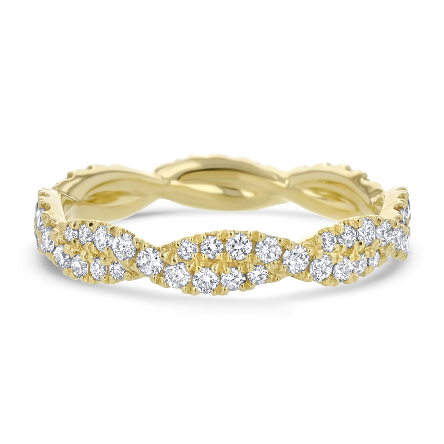 Diamond Infinity Twist Eternity Ring, 0.69 ct - R&R Jewelers