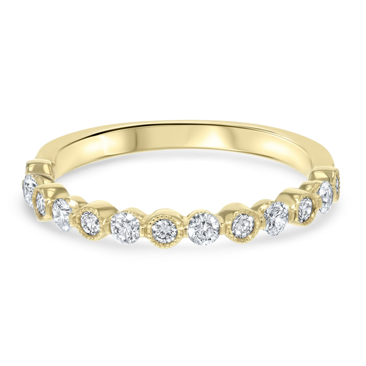 Milgrain Diamond Wedding Band - R&R Jewelers