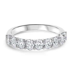 Oval Diamond Halfway Band, 1.29 Carats - R&R Jewelers