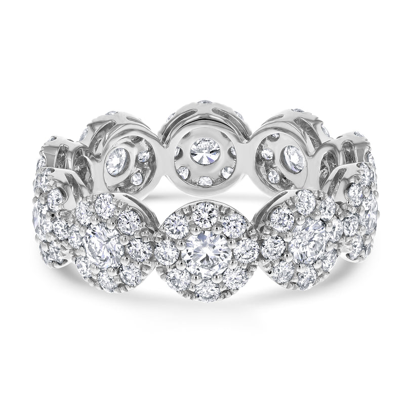Diamond Cluster Eternity Ring, 2.57 ct - R&R Jewelers