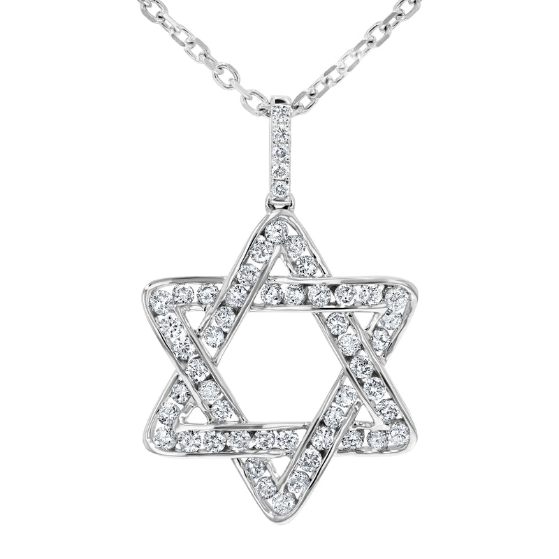 Star of David Channel Set Diamond Pendant - R&R Jewelers