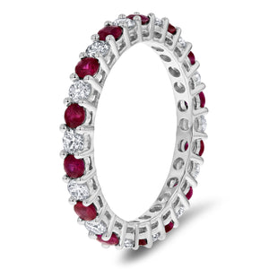 Alternating Diamond and Ruby Eternity Band - R&R Jewelers