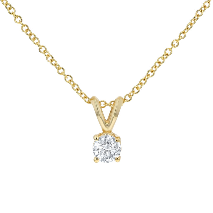 Solitaire Diamond Pendant - R&R Jewelers