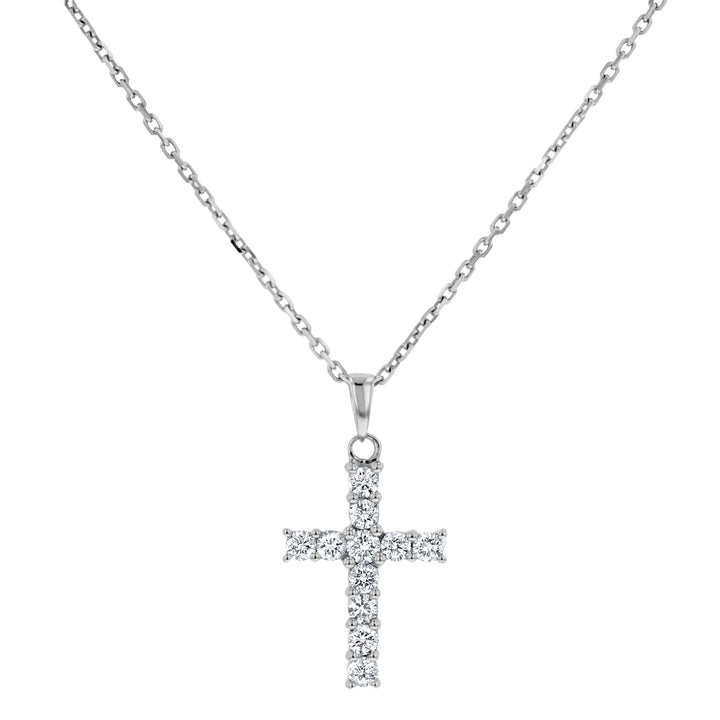 Round Brilliant Diamond Cross Pendant, 0.44 Carats - R&R Jewelers