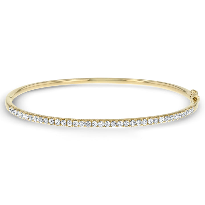 Slim Round Brilliant Diamond Bangle - R&R Jewelers