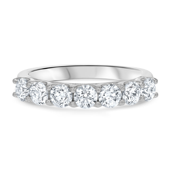 Shared Prong Halfway Diamond Wedding Band - R&R Jewelers