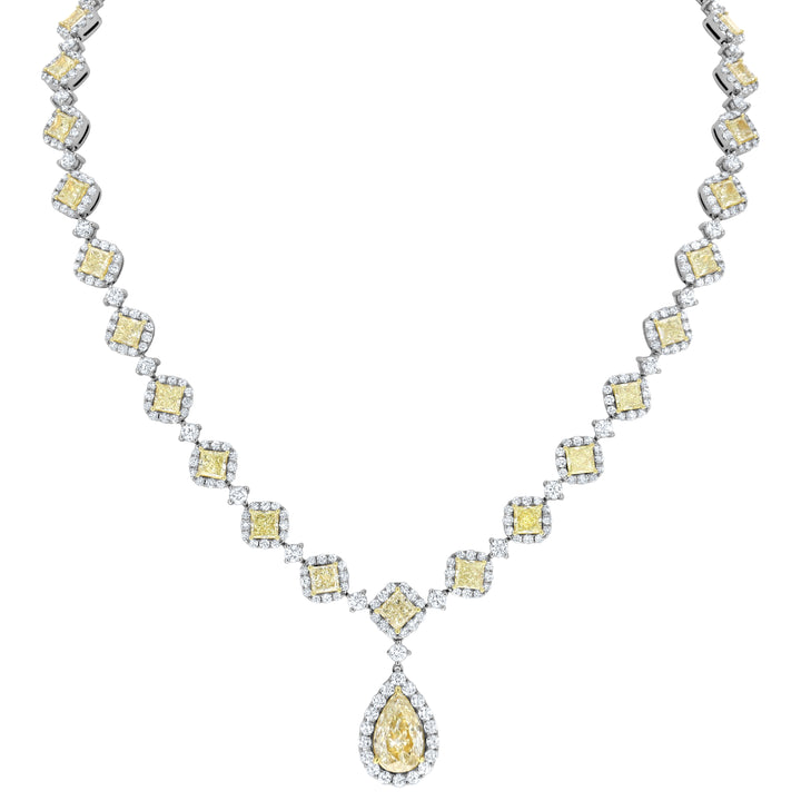 Fancy Princess Diamond Necklace - R&R Jewelers