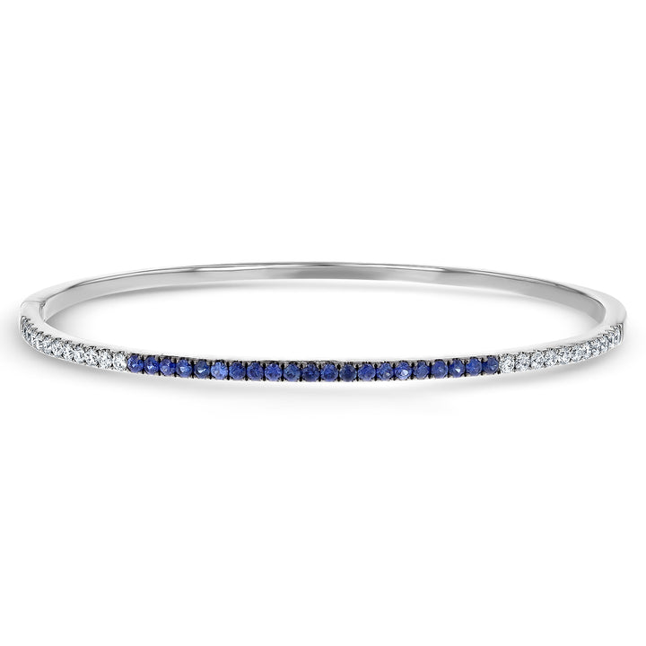 Diamond and Sapphire Bangle - R&R Jewelers