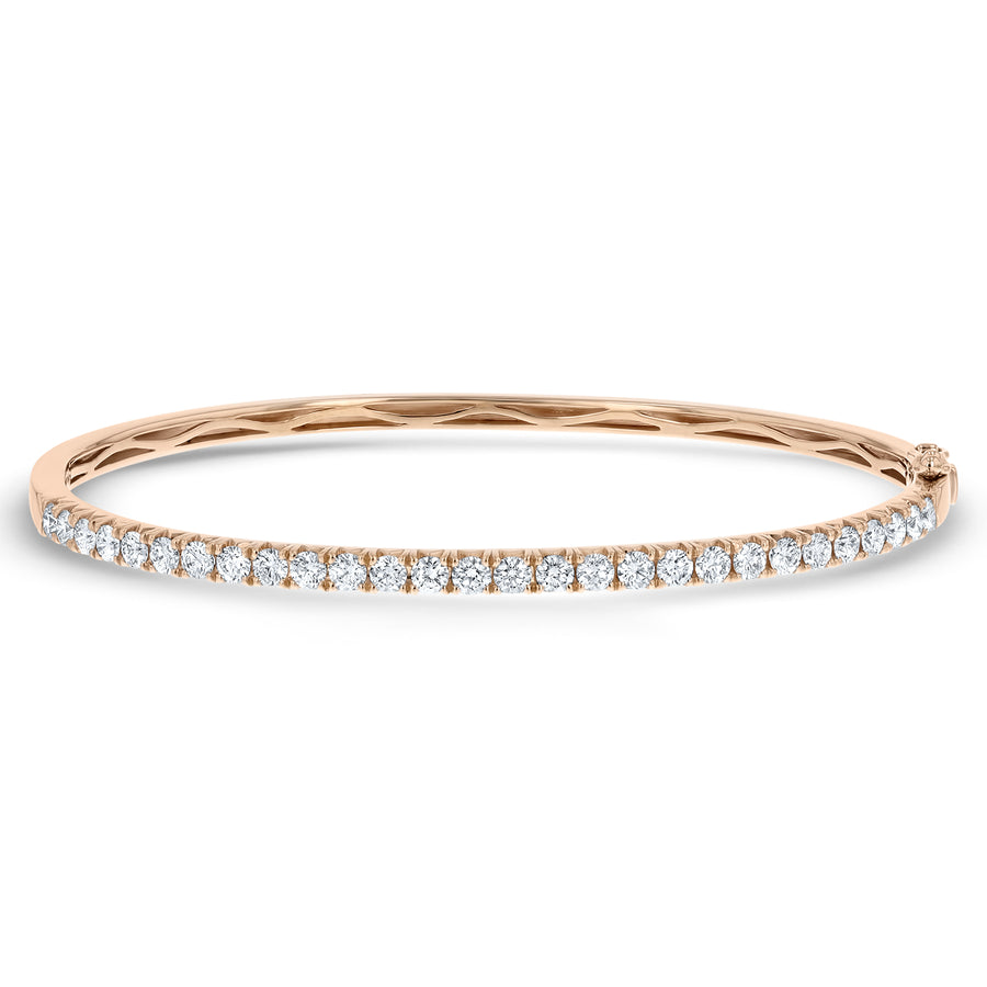 Round Brilliant Diamond Bangle