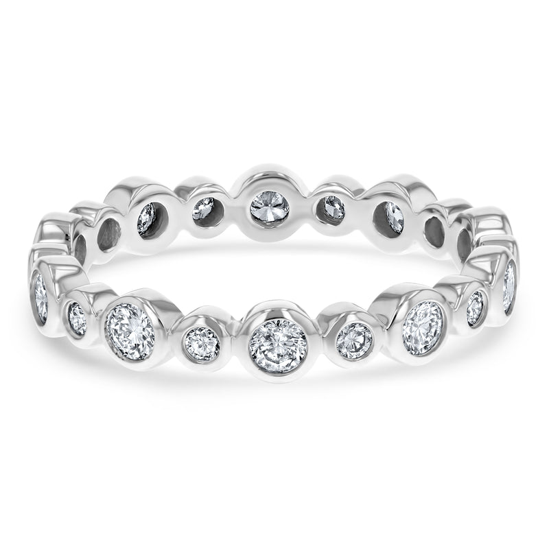 Bezel Set Diamond Eternity Ring - R&R Jewelers