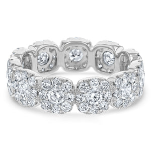 Diamond Cluster Eternity Ring, 2.28 ct - R&R Jewelers