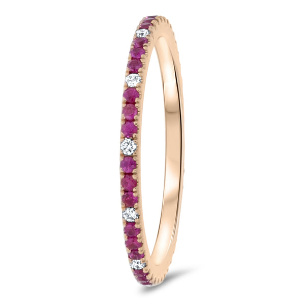 Diamond and Ruby Eternity Ring - R&R Jewelers