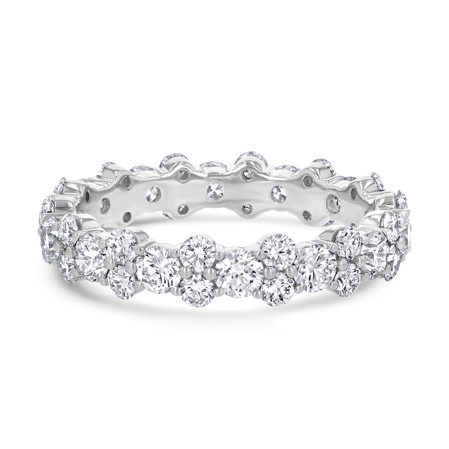 Alternating Double Single Round Eternity Band - R&R Jewelers