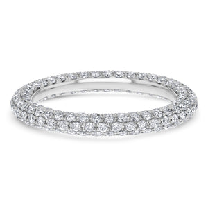 Three Row Diamond Pave Eternity Band - R&R Jewelers